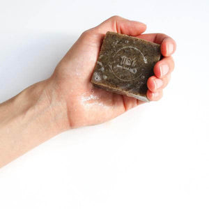 MARK facial soap with green tea for gentle cleansing and exfoliation