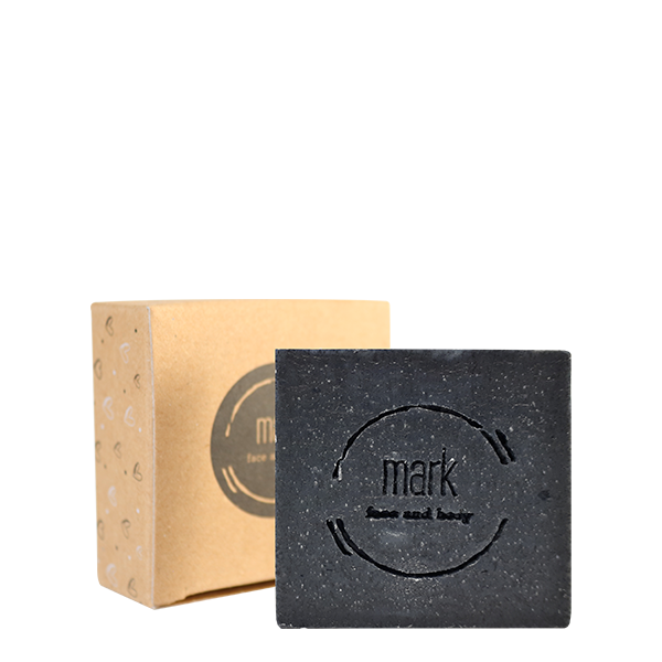 MARK facial soap with activated charcoal to clean (not only) problematic skin