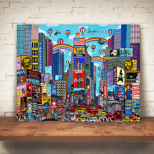 """The outstanding city of lights''  Times square New York Art"
