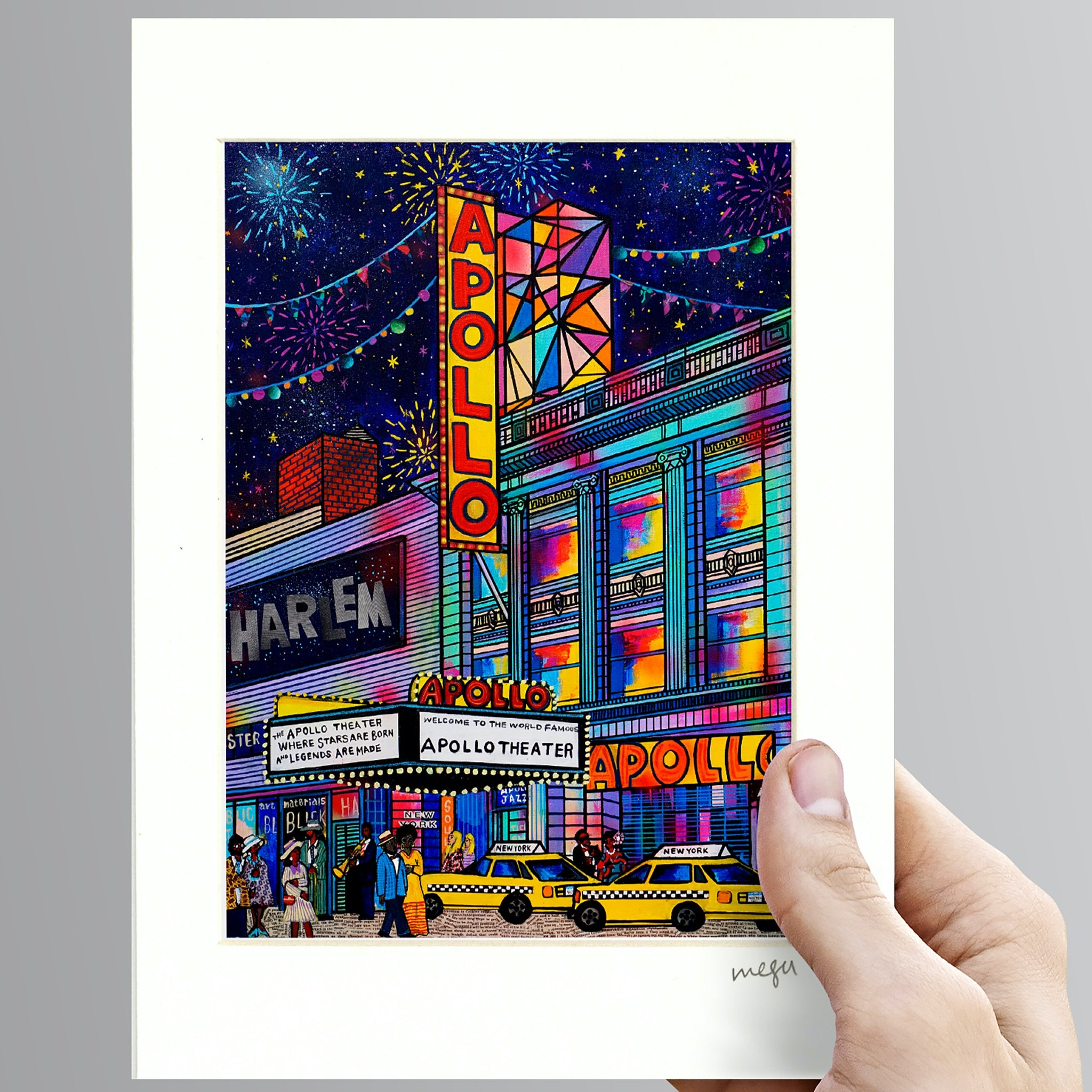 Apollo Theater Harlem-New York Art-New York Home Decor-Harlem Art-New York print-New York Gift-Harlem New York Art-Harlem art print