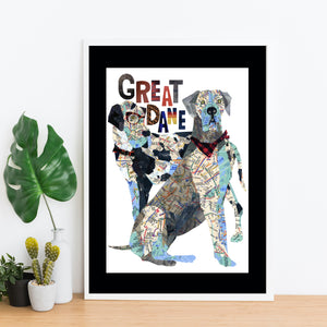 "Map Dog ""GREAT DANE"""
