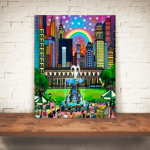 THE RAINBOW ABOVE US /BRYANT PARK NEW YORK ART
