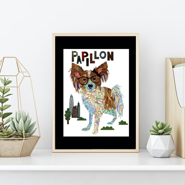 Papillon Dog Art Print - Papillon Art Print- Papillon Dog Art -Papillon Dog gift-Papillon