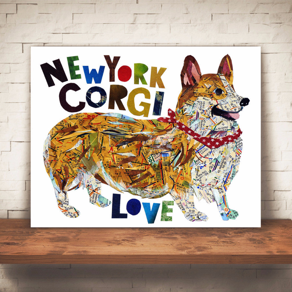 "Map dog ""Love Corgi dog"""