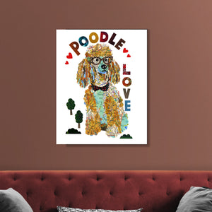 Map dog love TOY POODLE dog /POODLE ART