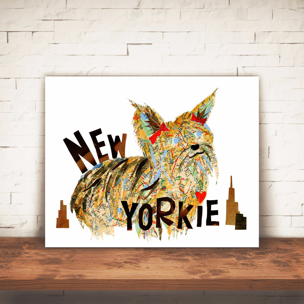 Map dog NEW YORKIE/Yorkshire terrier Art