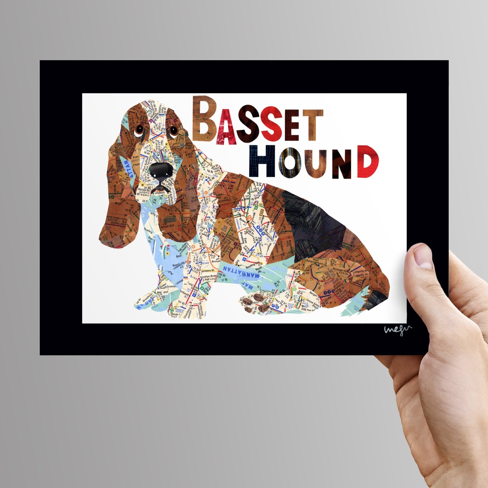 Basset hound dog Art Print