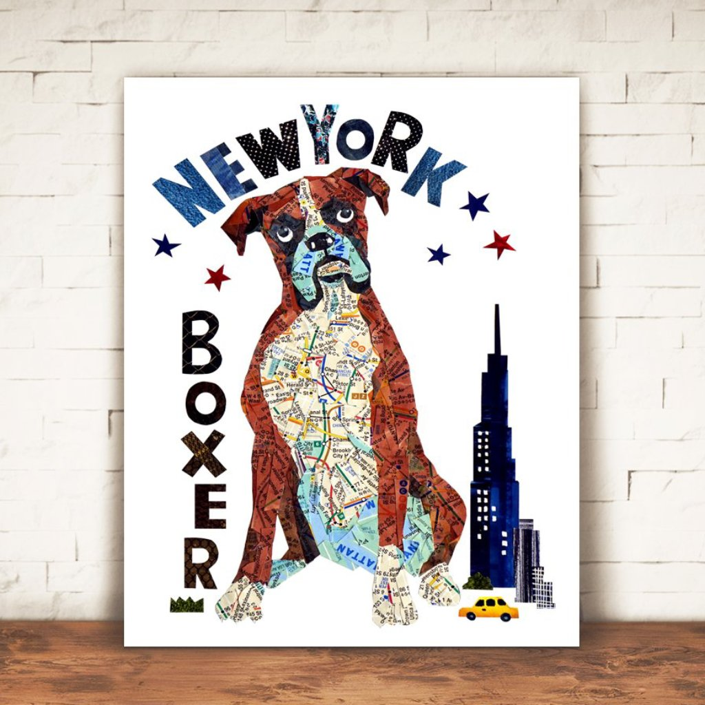 Map dog love Boxer dog