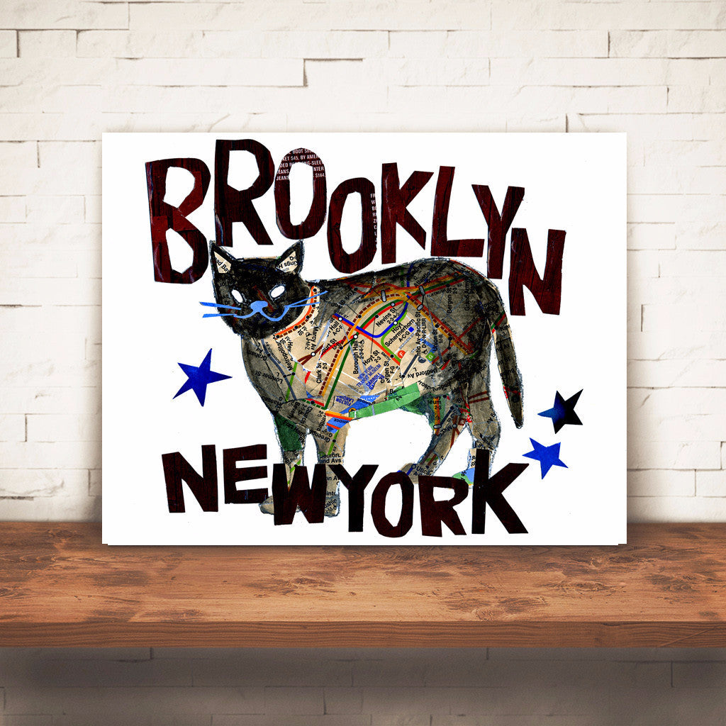 "Map Cat ""BROOKLYN CAT"""