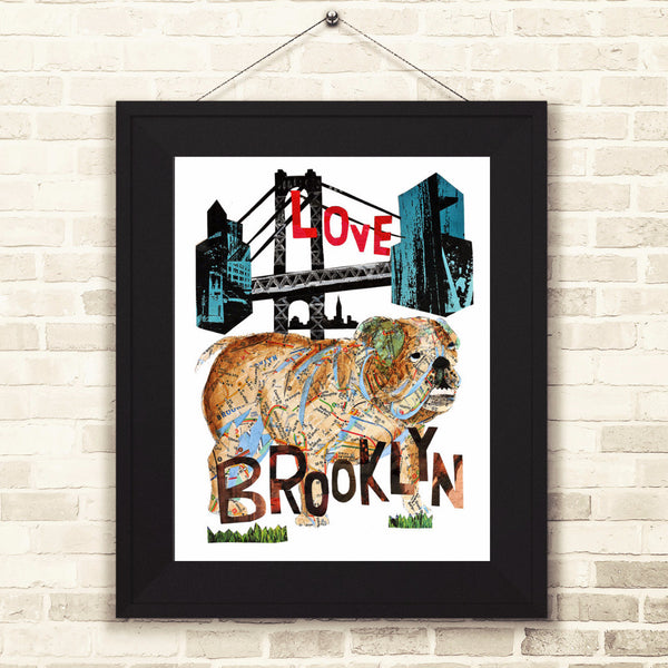 Map dog love BROOKLYN BULL DOG