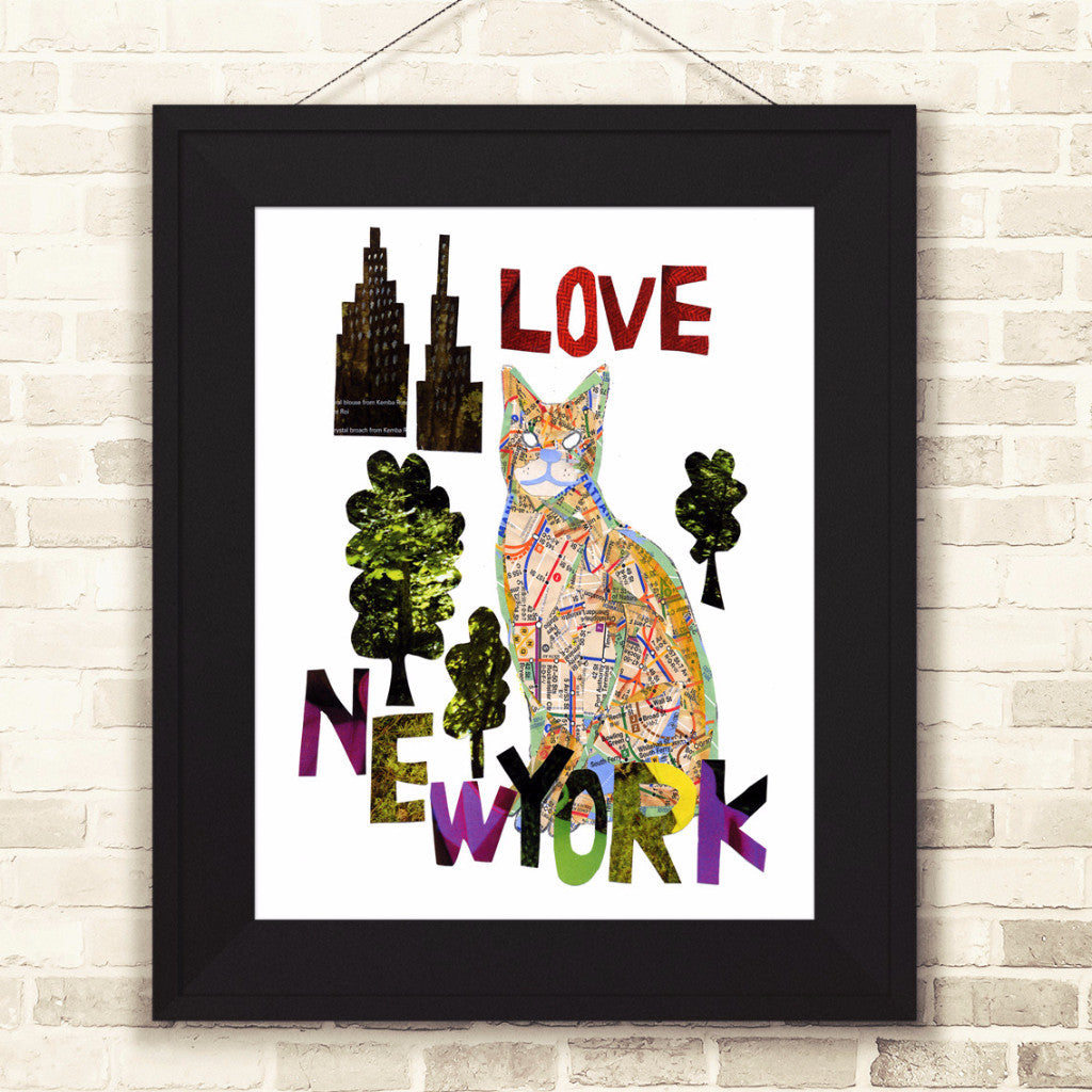 "Map cat ""LOVE NY CAT"""