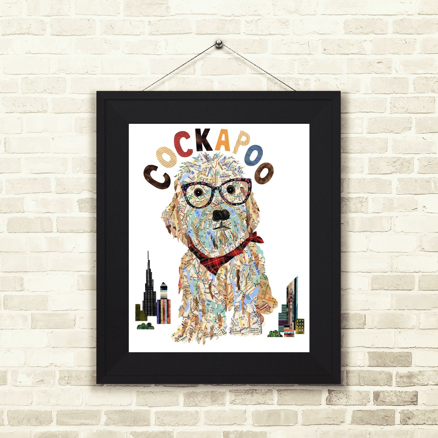 Map dog COCKAPOO /COCKAPOO ART PRINT