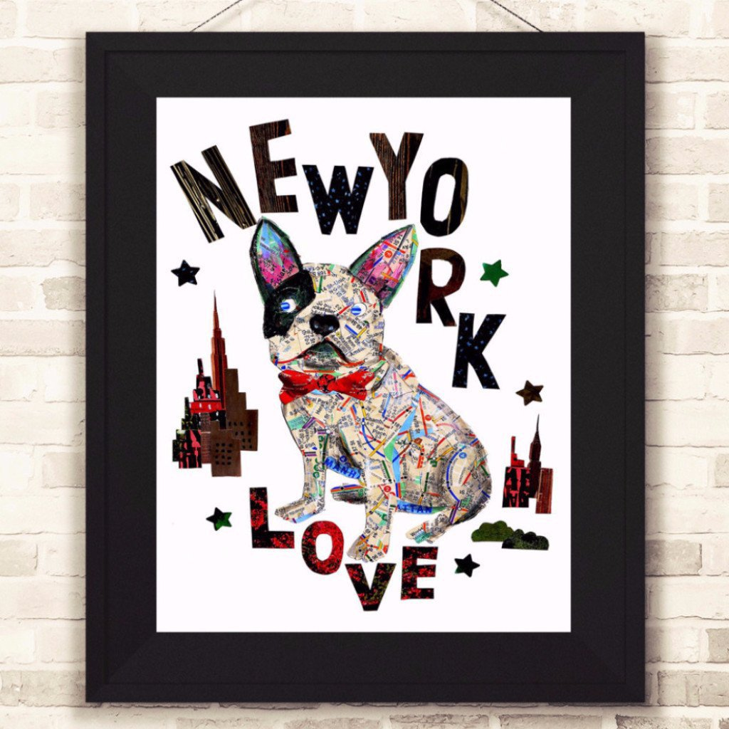 Map dog love french bull dog