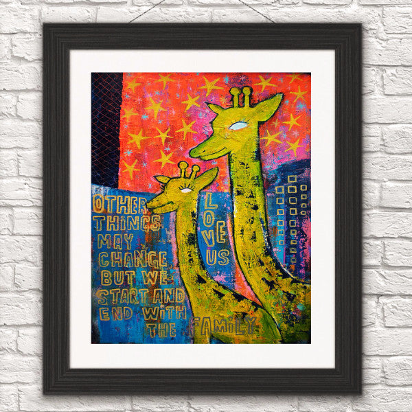 You and Me/Giraffe Art
