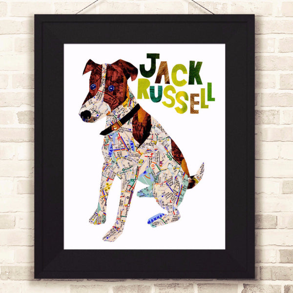 Map dog Jack Russell
