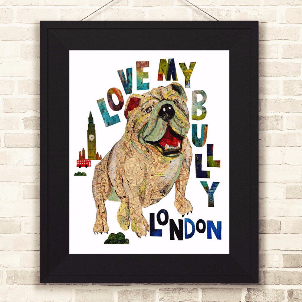"Map dog ""Love English Bull dog"""