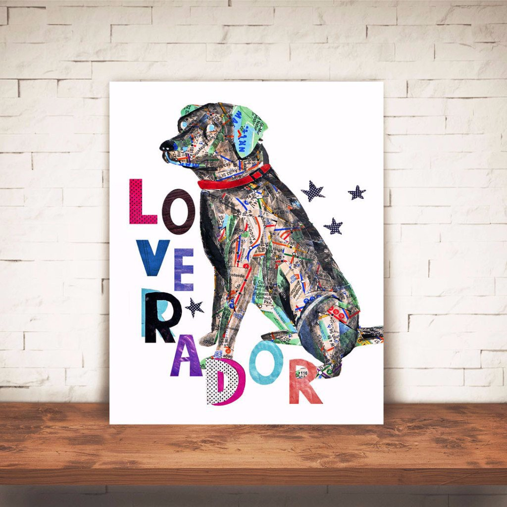 "Map dog ""Love labrador"""