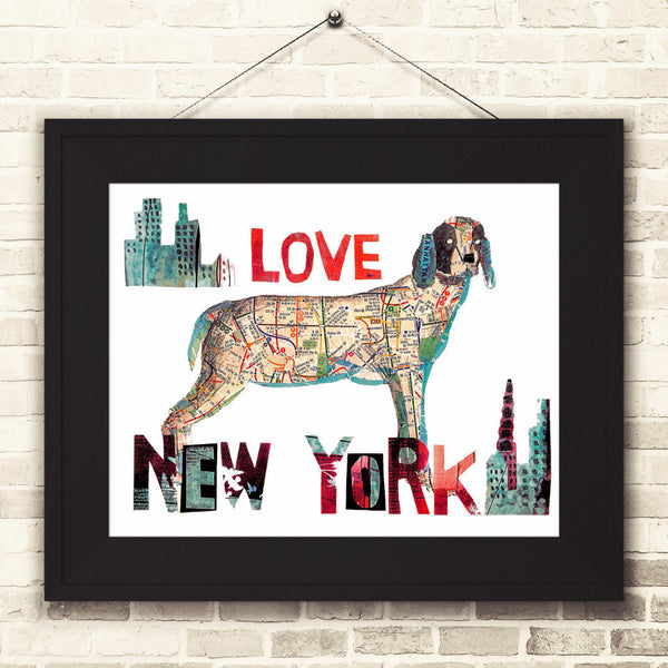 Map dog Love New  York