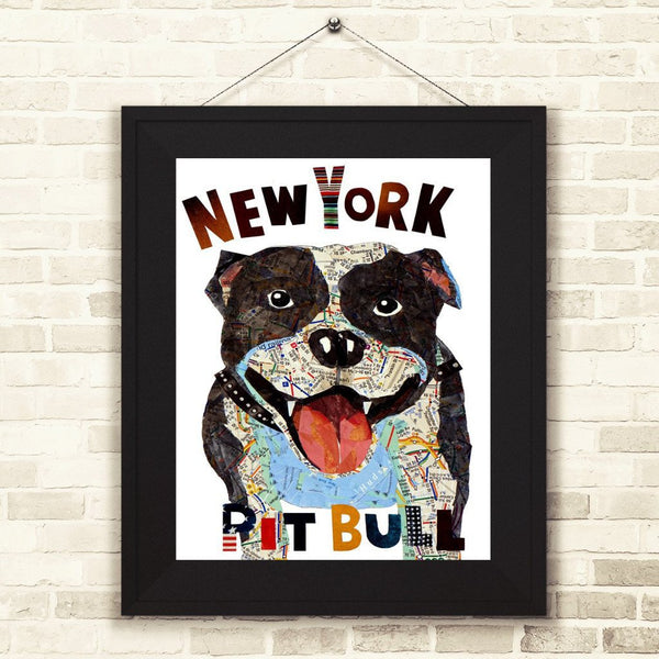 Map dog Pit Bull New York