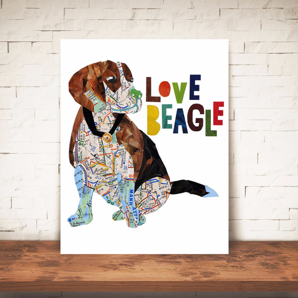"Map dog ""Love Beagle dog"""