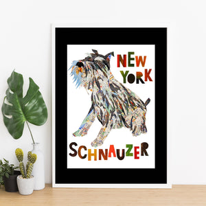 Map dog love schnauzer dog