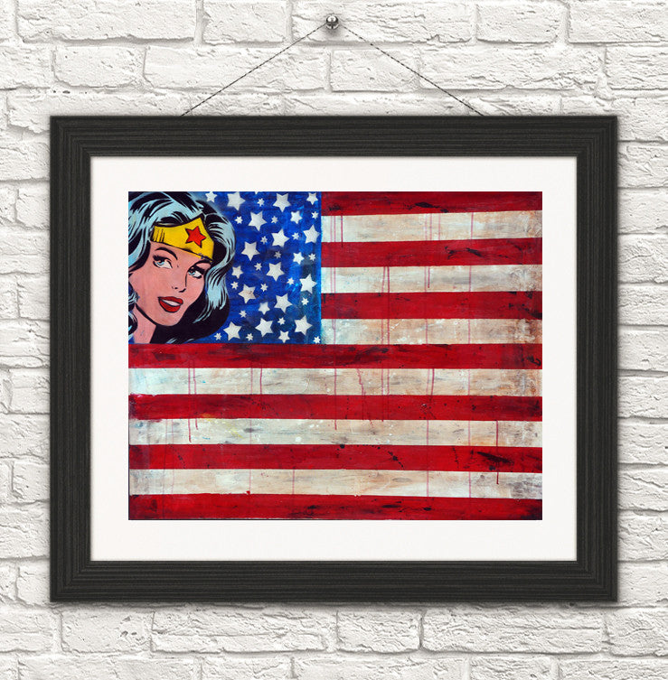 Wonder U.S.A/Wonder woman art