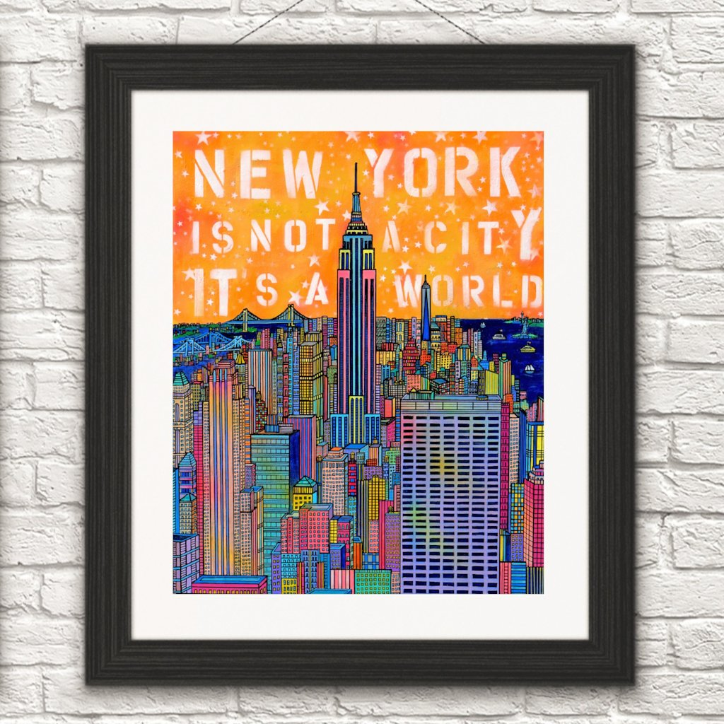 """New York is not a city it's a world /Empire State Building New York"