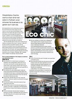 Maximiliano Centini about being an ECO chic salon