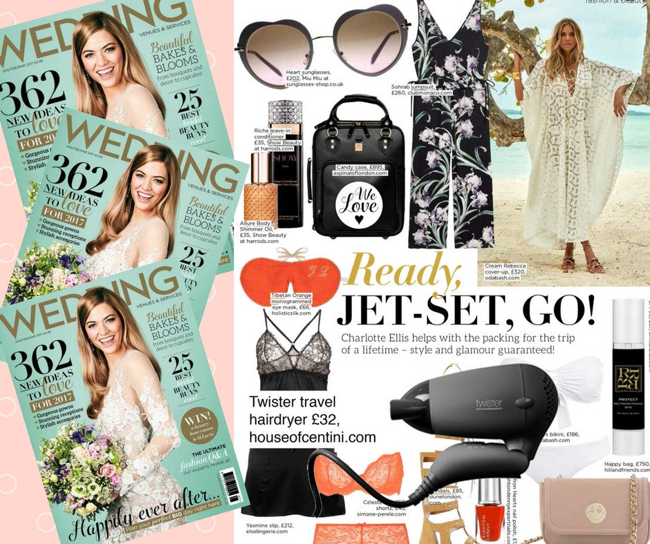 UKI Twister Travel Hairdryer in Wedding Magazine