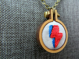 stitched David Bowie lightning bolt jewelry Pretty In Skulls Collection Pretty In Shop