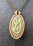 modern monogram G initial necklace