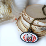 pennywise clown embroidered necklace