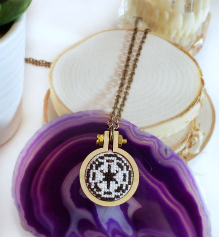 star wars hand stitched empire logo necklace