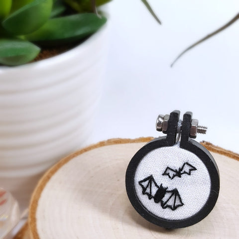 embroidered bat ring