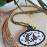 floral tooth embroidered jewelry