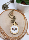 princess leia hand embroidered necklace
