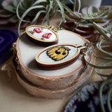 hand embroidered autumnal one of a kind necklaces