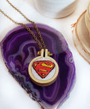 Superman embroidered logo jewelry