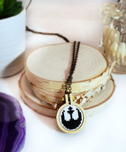 cross stitch star wars rebel alliance necklace