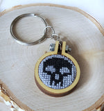 magic the gathering cross stitch swamp mana keychain