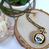 calavera sugar skull necklace