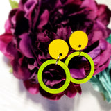 Color Shifting Wood Hoop Earrings