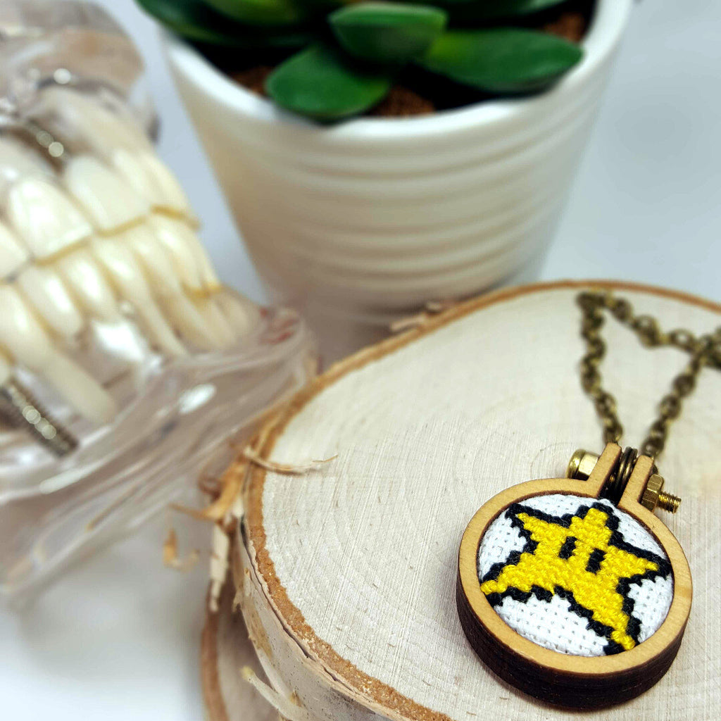 Super Star Mario necklace