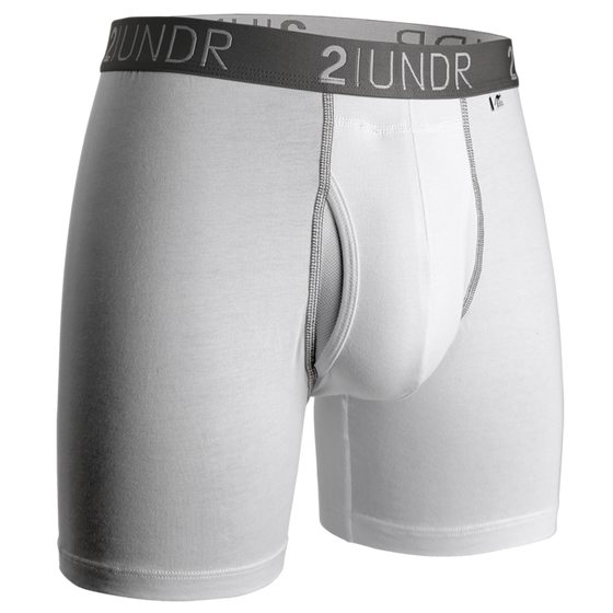 Swing Shift - Boxer Brief - White/Grey