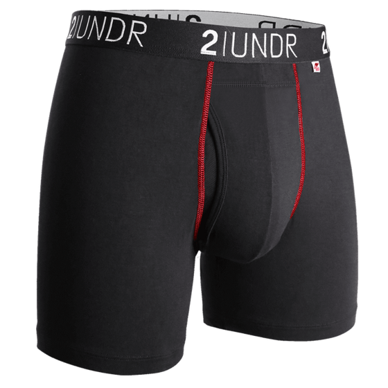 Swing Shift Boxer Brief - Black & Red - 2UNDR