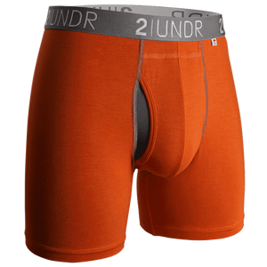 "Swing Shift 6"" Boxer Brief - Orange/Grey"