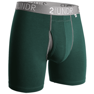 "Swing Shift 6"" Boxer Brief - Dark Green"