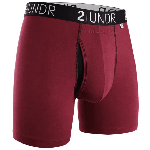 2UNDR Swing Shift Boxer Brief - Burgundy