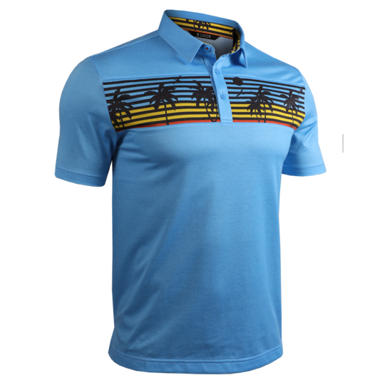2 UNDR Short Sleeve Polo - Endless/Cyan