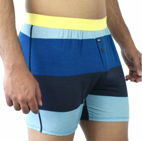 NTH Degree Modal Relaxed Fit Boxer - 'Ocean Stripe'